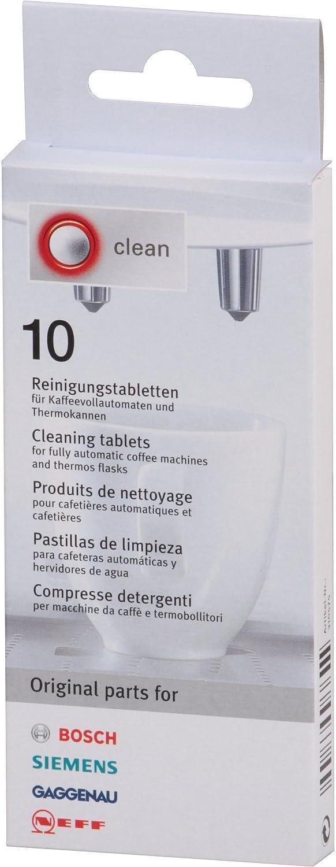 Bosch - Pastillas para limpiar cafeteras (10 unidades): Amazon.es: Hogar