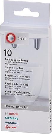 Bosch - Pastillas para limpiar cafeteras (10 unidades): Amazon.es ...
