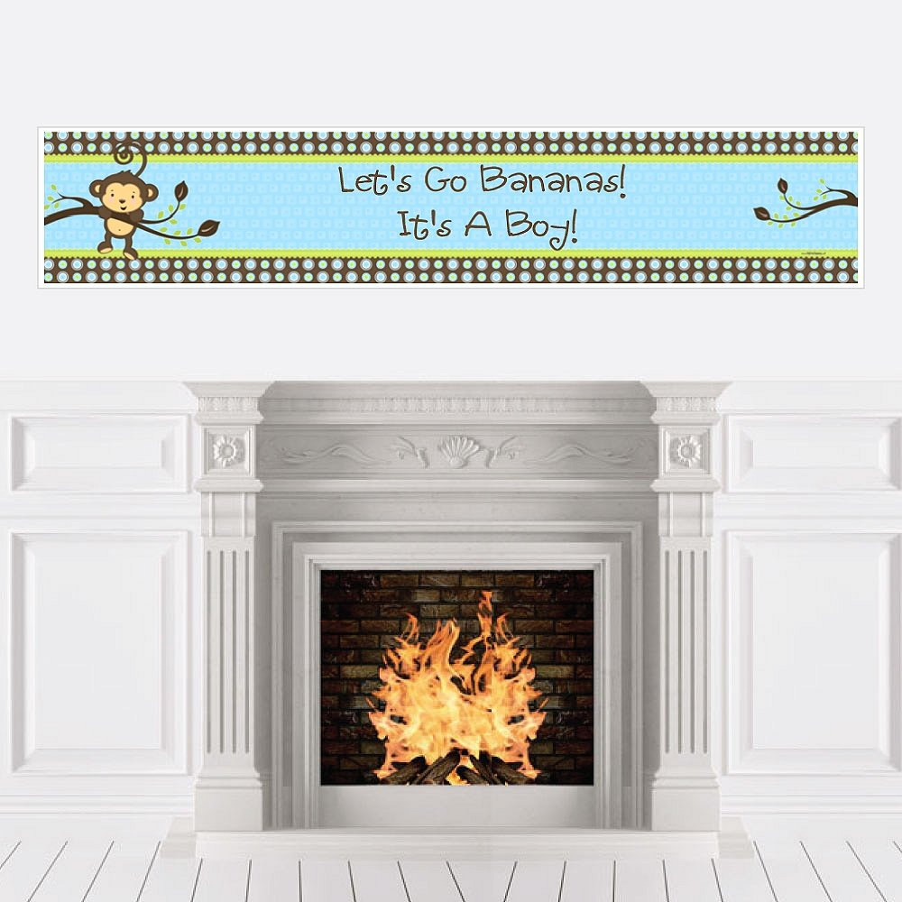 Monkey Boy - Baby Shower Decorations Party Banner