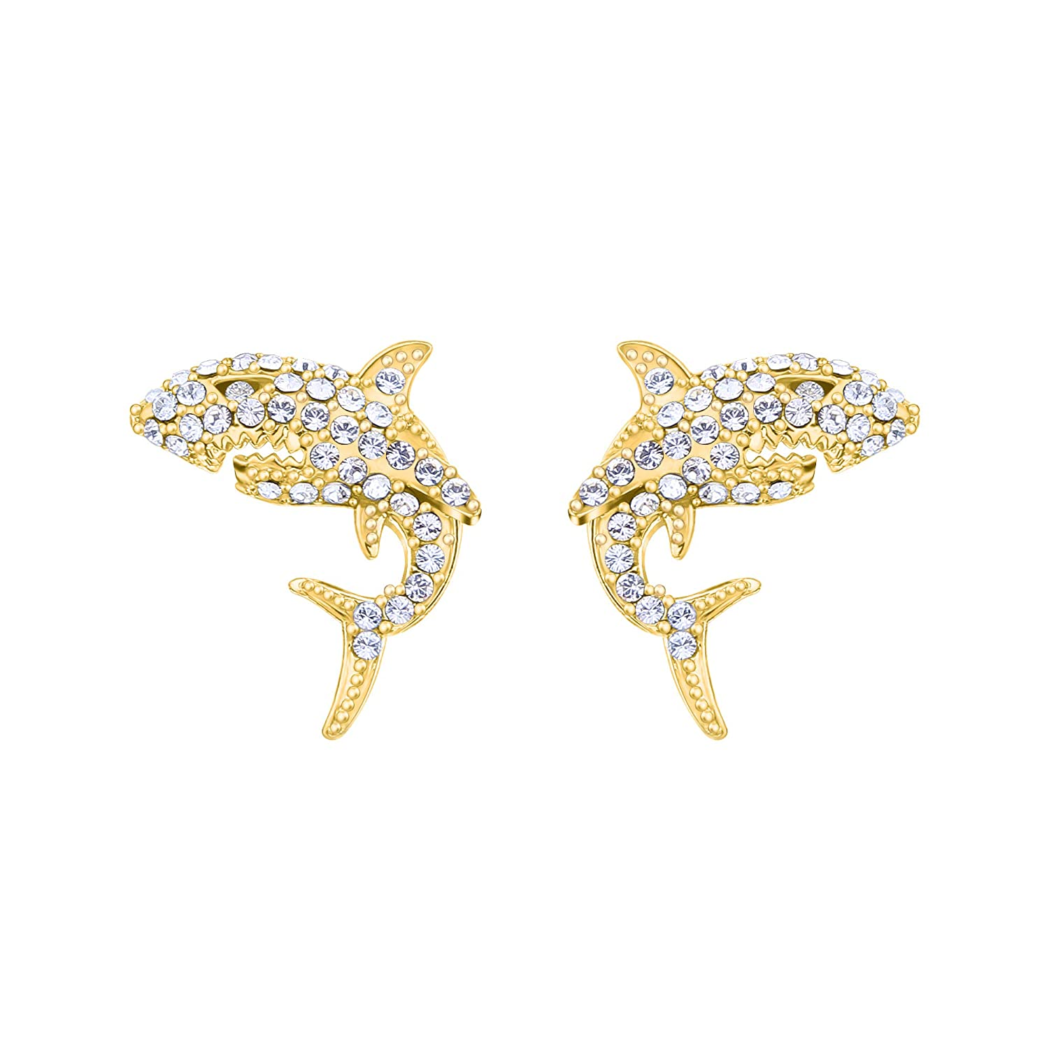 Earrings 16K Gold Plating,Shark Rhinestone Earrings/Stereoscopic 925 Stud Earrings For Women,Created With Swarovski Earrings Modern Style/Mini Bar Charms Earrings,Fashion Earrings Gift For Her Yiwu Yonghai Trading Co. Ltd