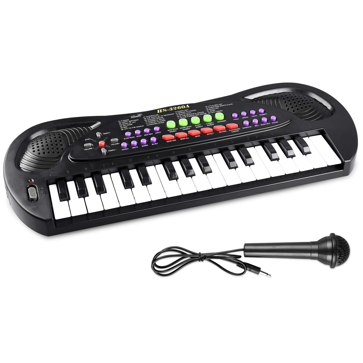 AIMEDYOU Kids Piano Keyboard 32 Key - Portable Electronic Musical Instrument Multi-Function Keyboard Teaching Toys Birthday Christmas Day Gifts for Kids by AIMEDYOU