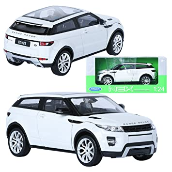 Welly Nex 124 Range Rover Evoque White Display Mini Car Amazonco