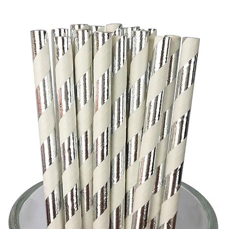 Amazon com: Free DHL 500 pcs Metallic Silver Foil Striped