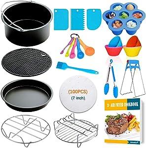 7 Inch Air Fryer Accessories,Phillips Air Fryer Accessories and Gowise Air Fryer Accessories Fit all 3.2QT-4.2QT
