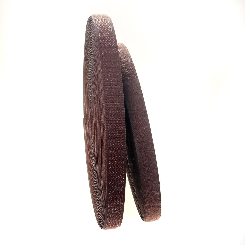 25m Gancho y 25m Bucle Cinta TUKA 25m x 20mm Hook y Loop Bandas para Coser de Vuelta sin Adhesivo 20 mm de Ancho no Autoadhesivas Beige TKB5004 Beige Cinta de Gancho y Bucle
