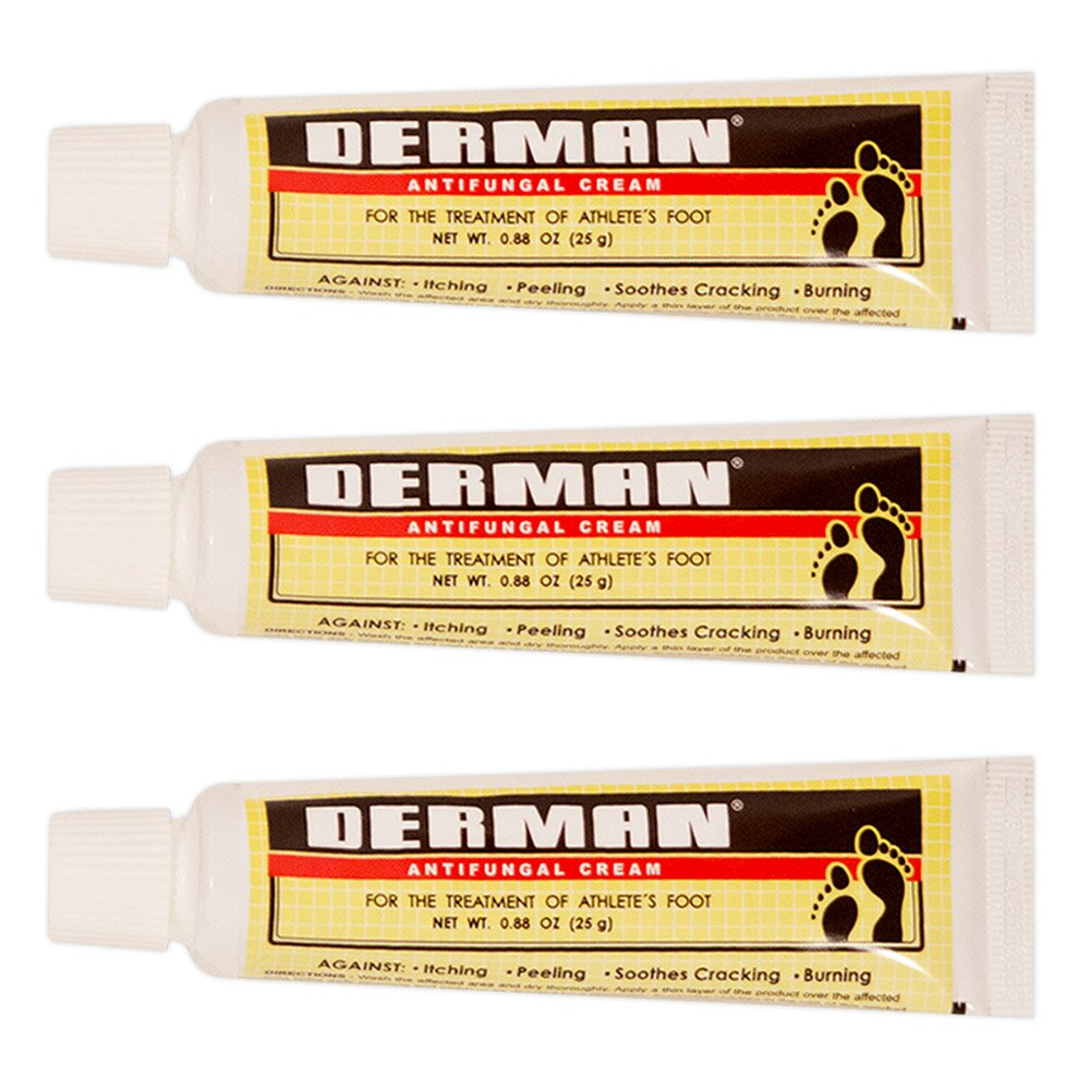Derman Antifungal Cream for the Treatment of Athlete's Foot 1.76 oz. (3-Pack)