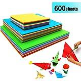 Papel de Origami - 600 Hojas de Origami Papiroflexia Papel Colores para DIY Manualidades Proyectos