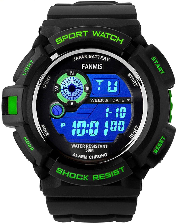Amazon.com: Fanmis S-Shock Multi Function Digital LED Reloj ...