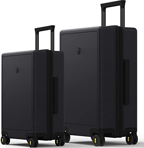 LEVEL8 Luggage Travel Bussiness Carry-On Suitcases Elegance Trolley Case with TSA Lock 24 ,Black