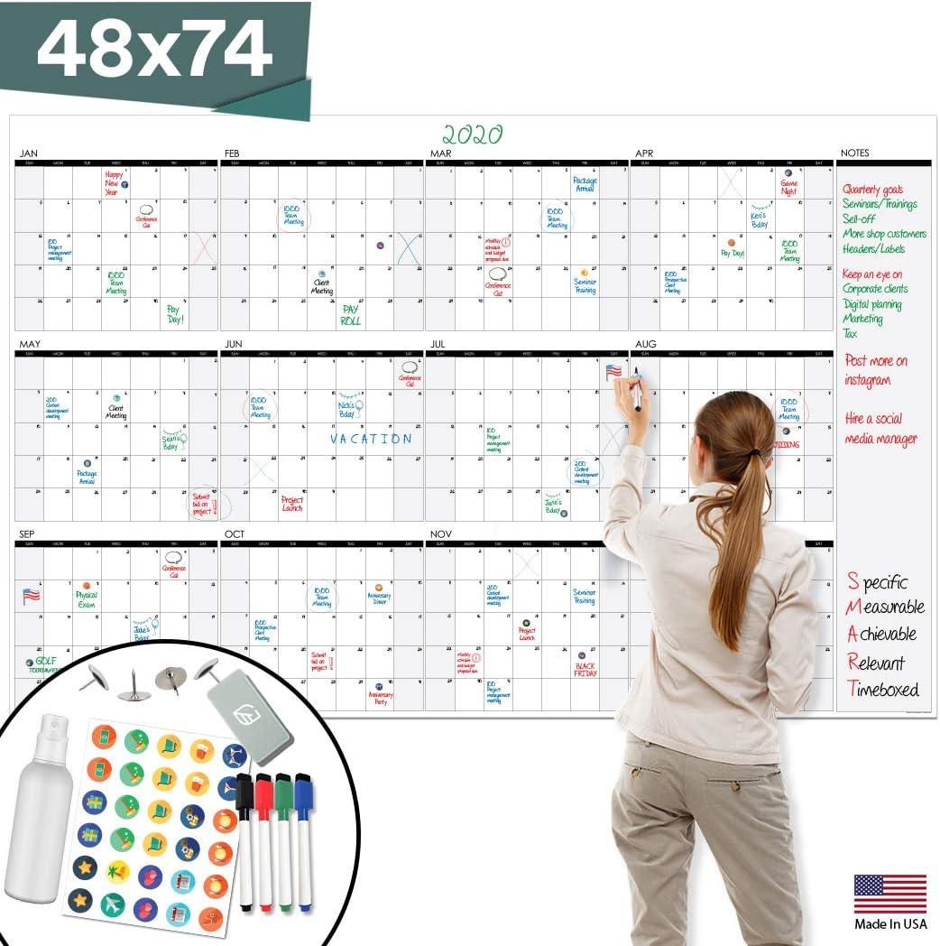 Large Dry Erase Wall Calendar - 48