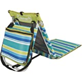 Coleman Beach Ground Mat in Citrus Stripe