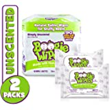Boogie Wipes, Unscented Wet Wipes for Baby and Kids, Nose, Face, Hand and Body, Soft and Sensitive Tissue Made with Natural Saline, Aloe, Chamomile and Vtamin E, 45 Count (Pack of 2)