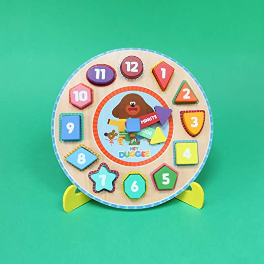 HEY DUGGEE en bois horloge puzzle /& STAND-LEARN au Comte//TELL THE TIME Jouet