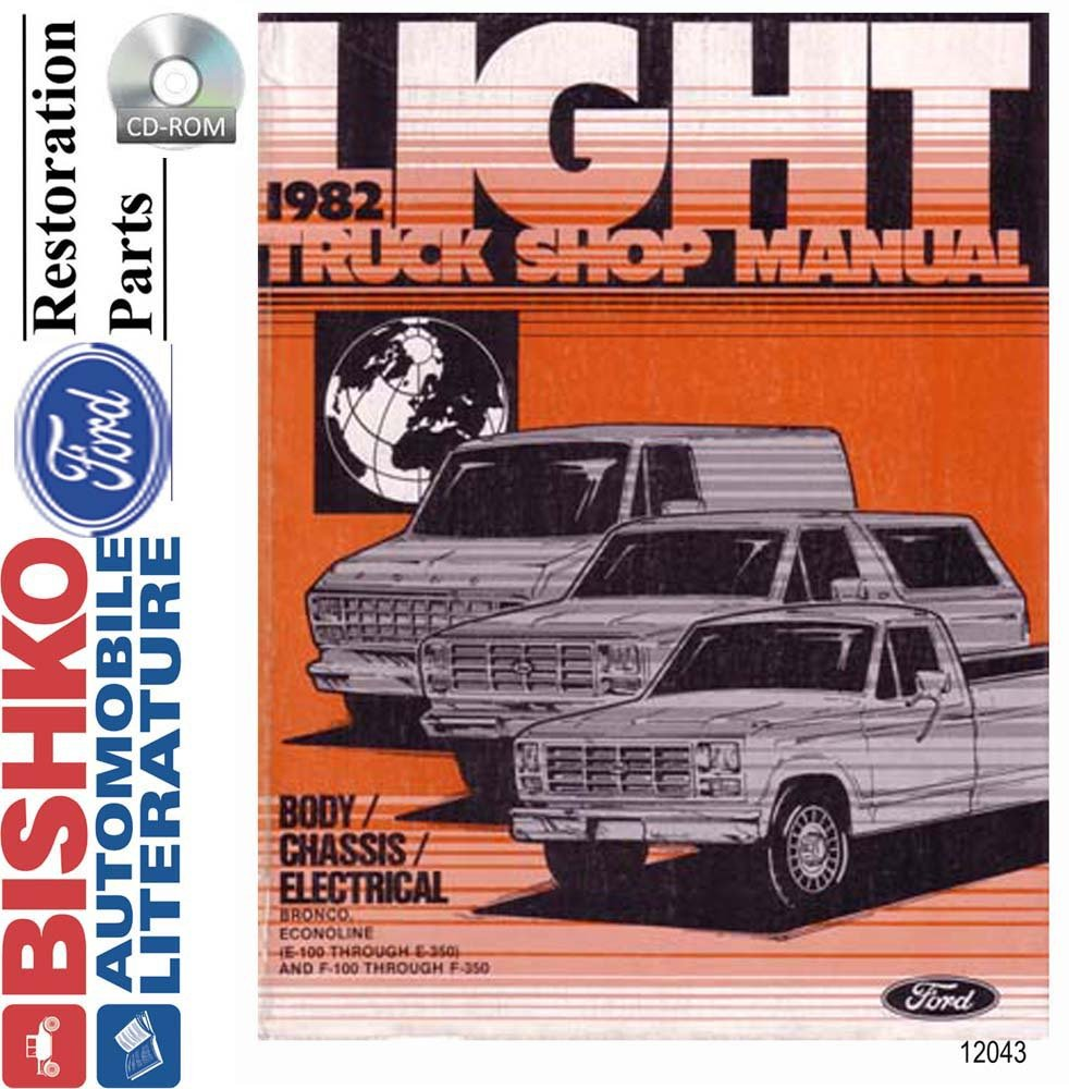 Amazon.com: bishko automotive literature 1982 Ford Econoline Bronco F100 -  F350 Pickup Shop Service Repair Manual CD OEM: Automotive