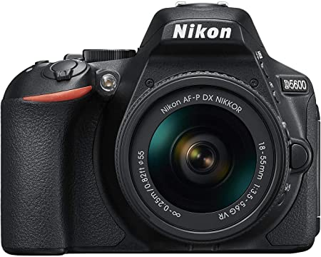 Oferta amazon: Nikon D5600 - Kit de cámara réflex de 24.2 MP con objetivo AF-P DX 18 - 55 mm VR, pantalla táctil de 3