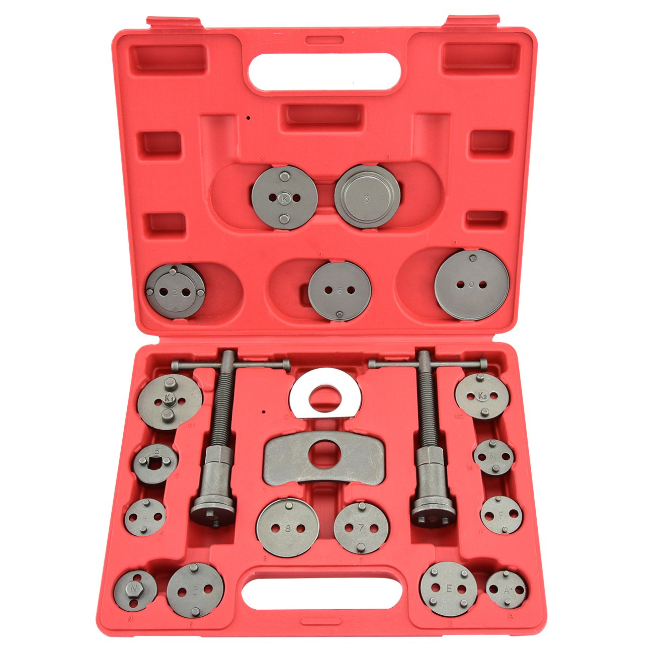21 Piece Tool Kit Car/Truck Disc Brake Caliper Rewind Wind Back Auto Tool Set Kit for Piston Pad Disc Brake Car Truck Mechanics