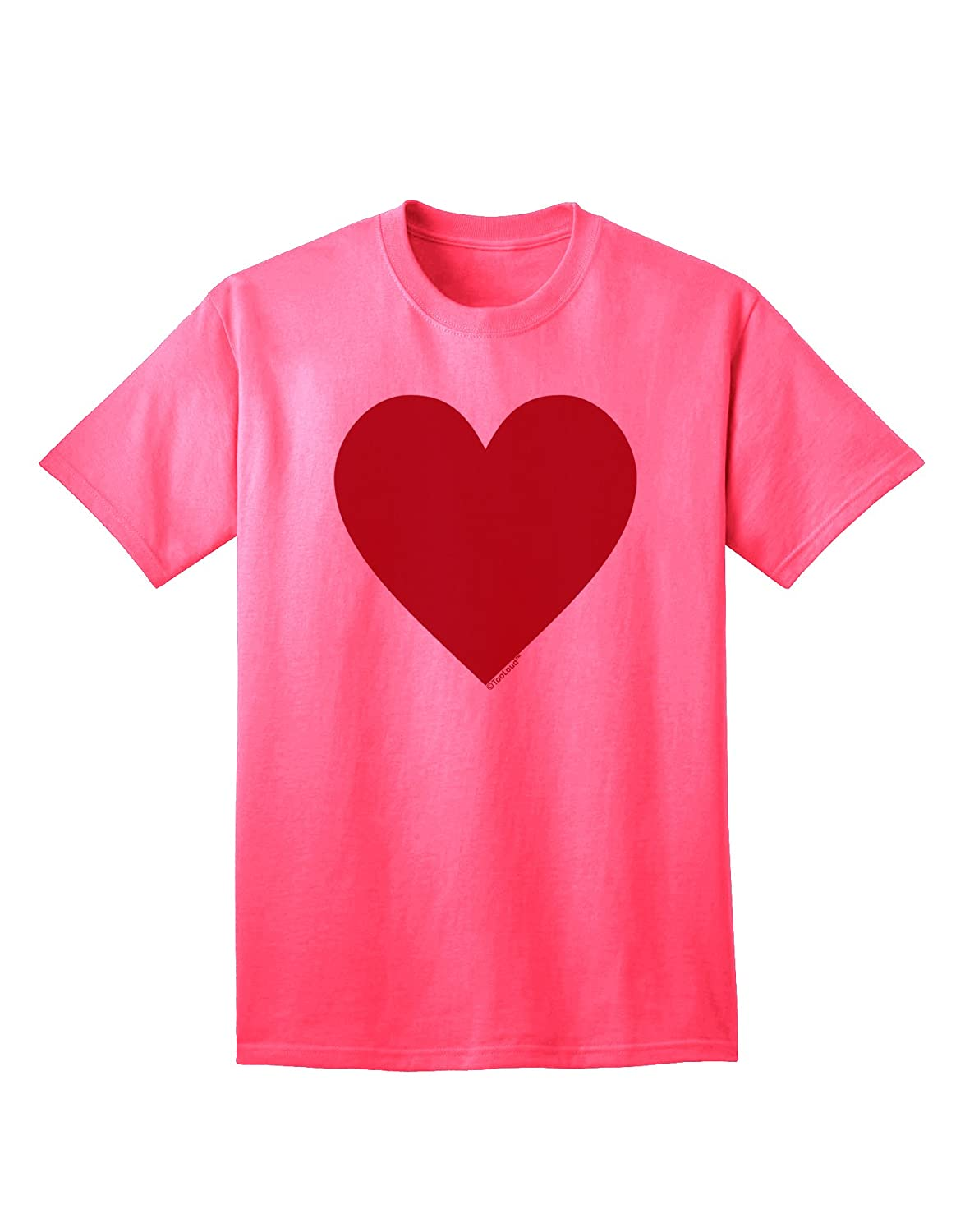924520949ecd Amazon.com  TooLoud Big Red Heart Valentine s Day Adult T-Shirt  Clothing