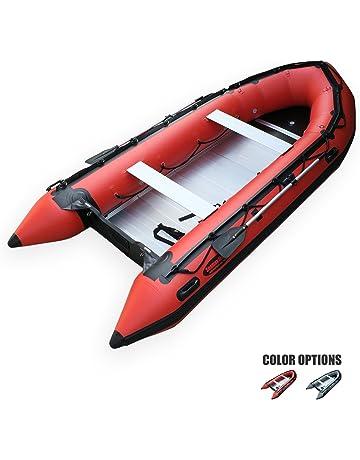 SEAMAX Heavy Duty Ocean430 14ft Inflatable Boat, Aluminum Floor, V Bottom, 5 Pontoon