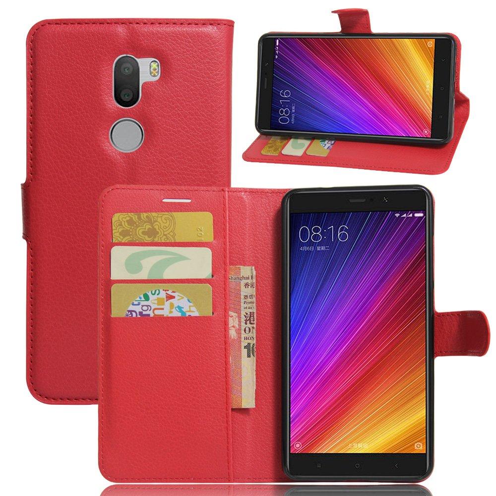 Xiaomi Mi 5s Plus funda, cartera de piel sintética Premium ...