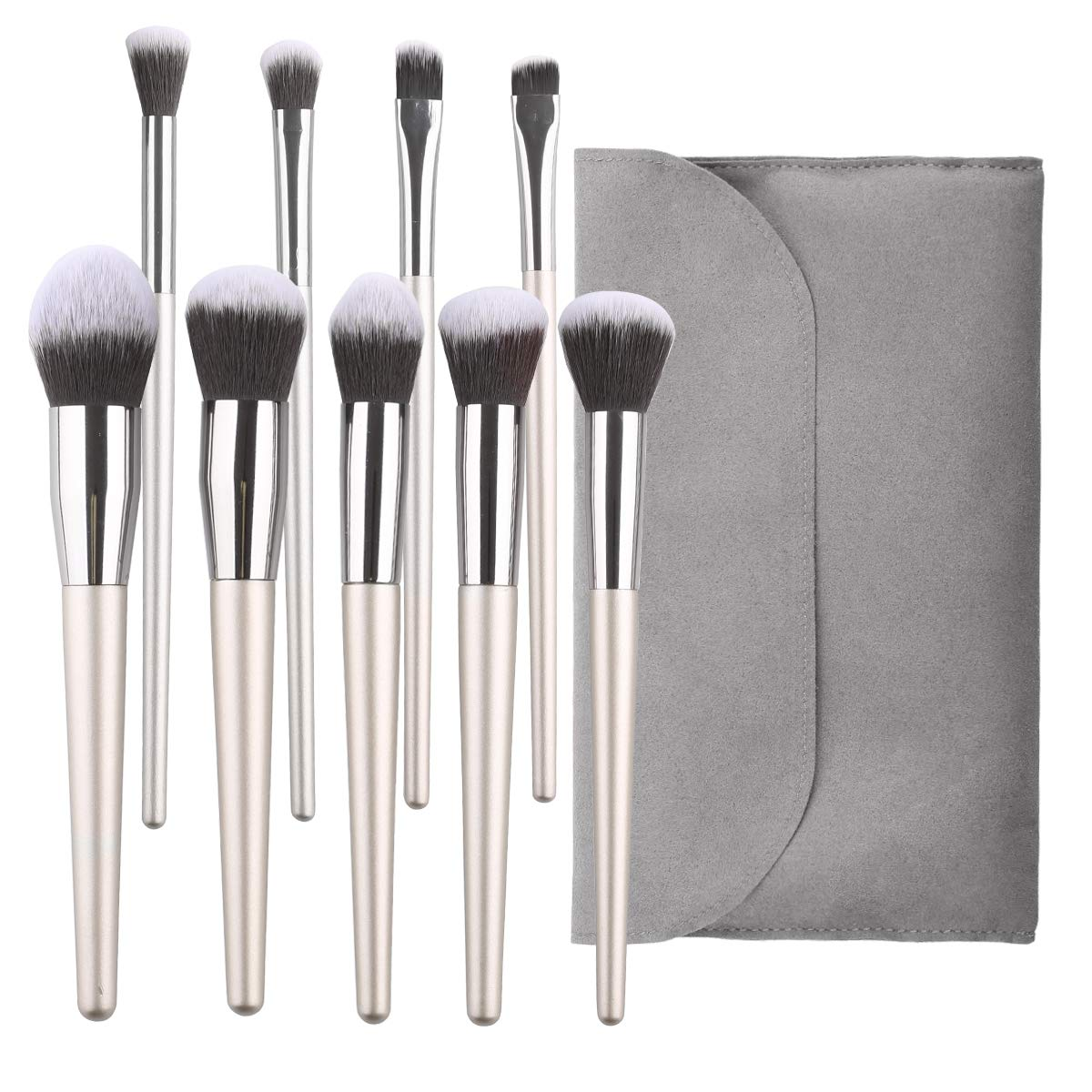 Cosmetic Brushes Set 9 PCs Brush Kit Foundation Powder Concealers Eyeshadows Makeup Brush