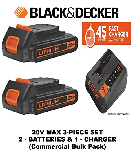 Amazon.com: Black & Decker 20 Volt Extended Run Tiempo ...