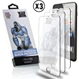 Nordic 3D Touch Tempered Glass Screen Protector Set for Apple iPhone 6/7/8 PLUS Phones: 3 Pack of 0.33MM Case-Friendly Films, Cleaning Pads and Cloths