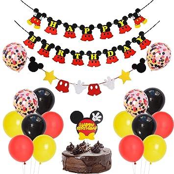 Decoraciones de Fiesta de cumpleaños temáticas de Mickey ...