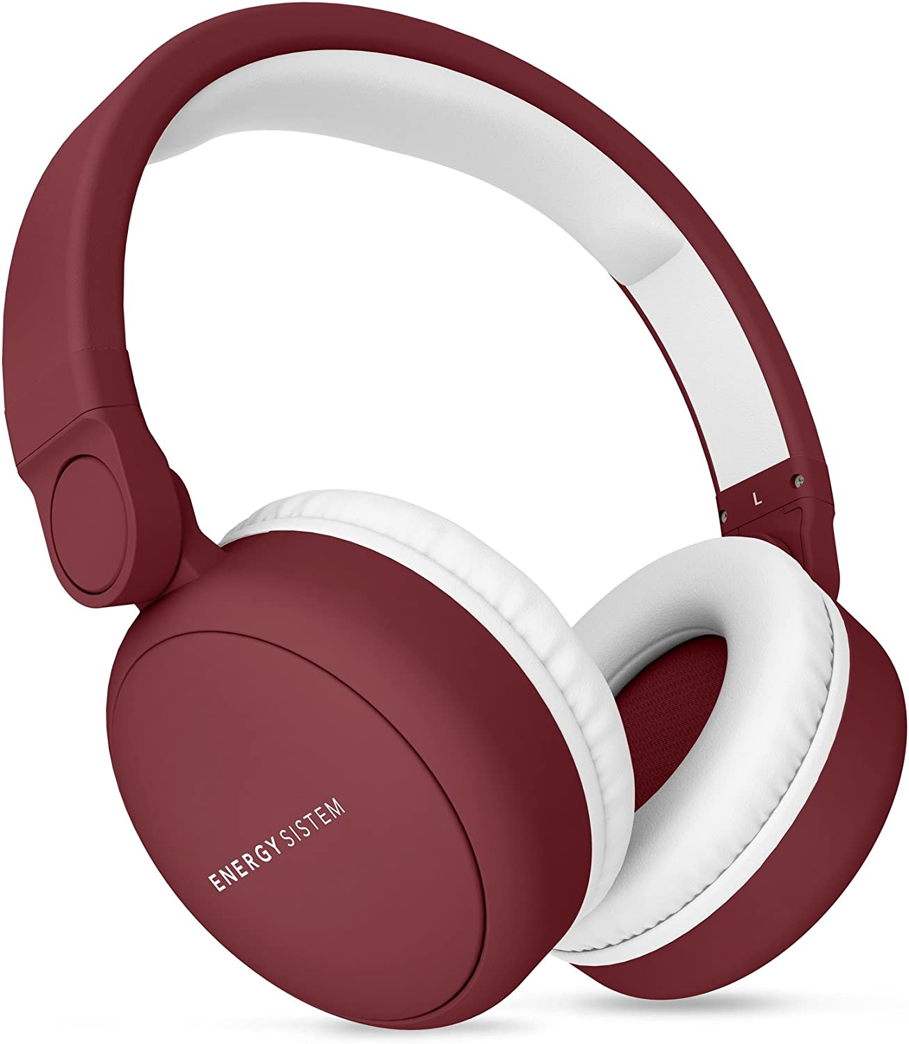 Energy Headphones 2 Auriculares inalámbricos con Bluetooth (Circumaural, Plegable, bateria Recargable,Audio-in) Ruby Red