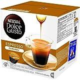 NESCAFÉ DOLCE GUSTO ESPRESSO CARAMEL Caffè espresso al caramello 3 confezioni da 16 capsule [48 capsule]