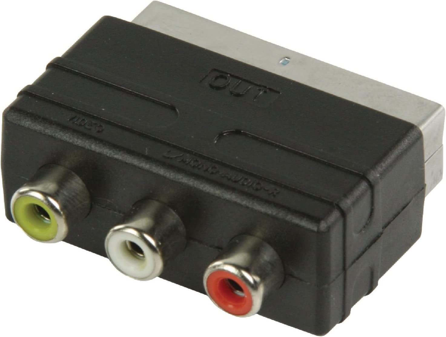 Valueline Nedis Switchable SCART Male to 3x RCA Female S-Video Adapter