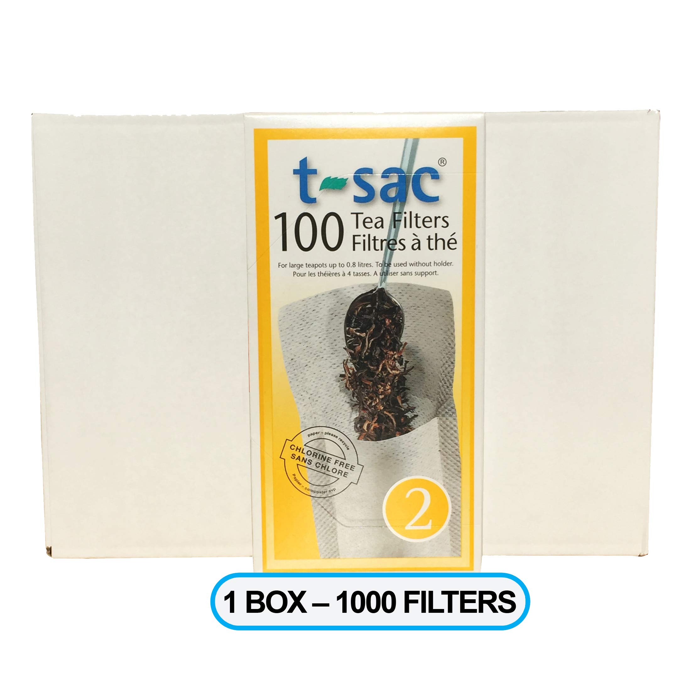 Modern Tea Filter Bags, Disposable Tea Infuser, Size 2, Box of 1000 Filters - Heat Sealable, Natural, Easy to Use Anywhere, No Cleanup - Perfect for Teas, Coffee & Herbs - from Magic Teafit by Magic Teafit