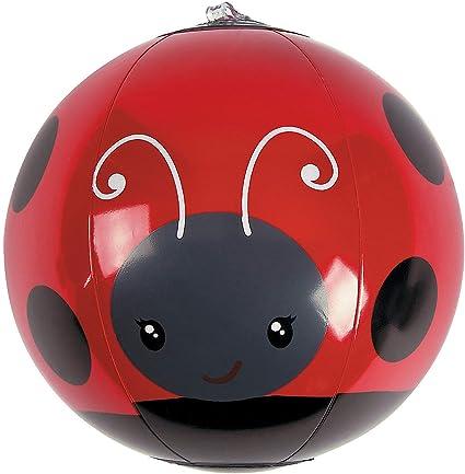 Fun Express - Inflate Mini Ladybug Beach Balls for Birthday - Toys - Inflates - Mini Beach Balls - Birthday - 12 Pieces
