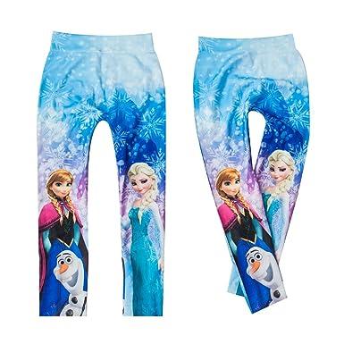 """2c0f798b16 Leggings Kinder-Hose für Mädchen mit Motiv """"Elsa und Anna die  Eiskönigin"""""""