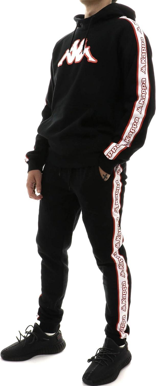 Kappa Pantalones de chándal de Hombre Tela Negra 304M6N0-908 ...