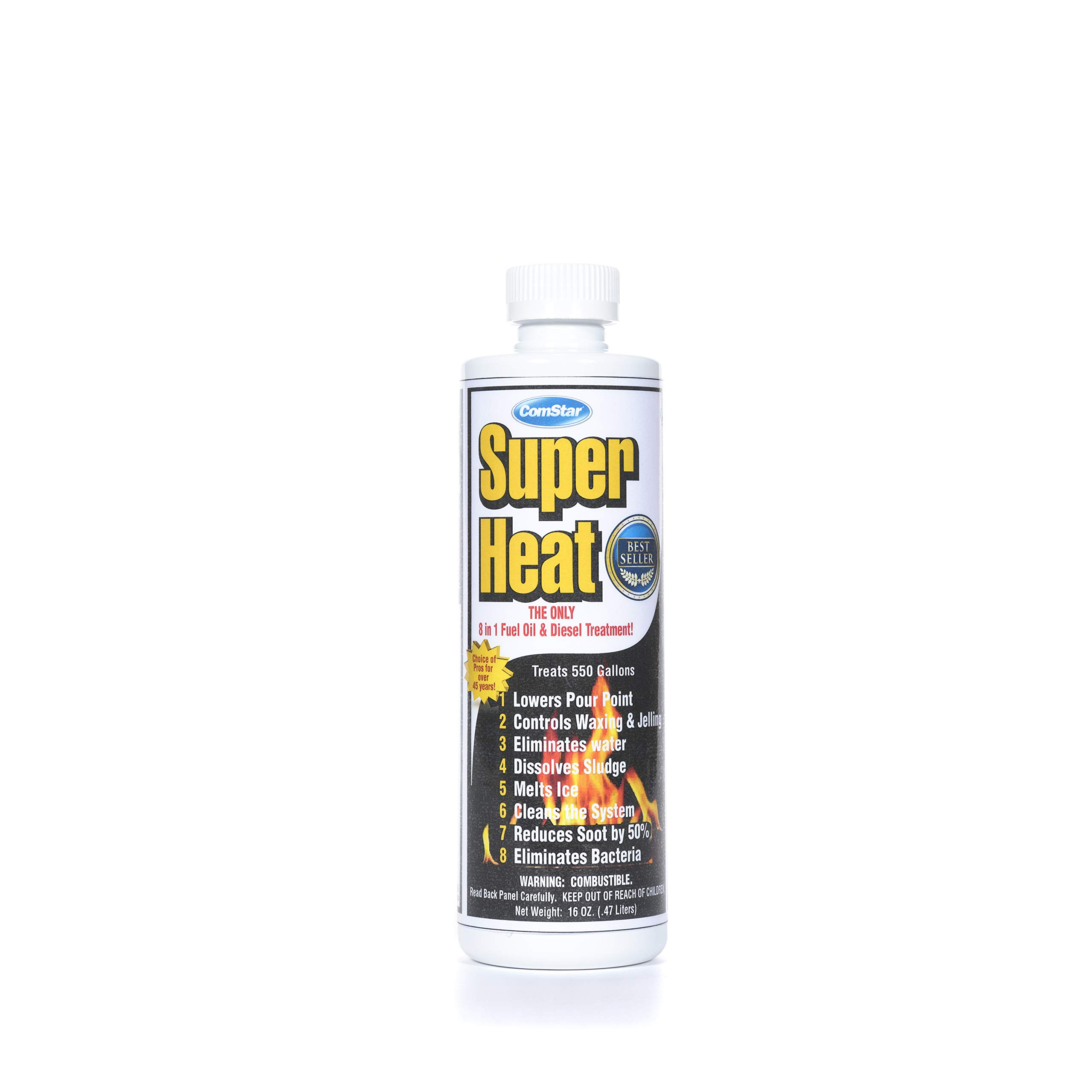 ComStar 60-130 Super Heat 8-In-1 Heating and Fuel Oil Treatment, 16 oz by Comstar