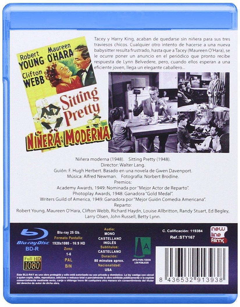 Niñera Moderna BD 1948 Sitting Pretty [Blu-ray]: Amazon.es: Maureen OHara, Clifton Webb, Richard Haydn, Louise Allbritton, Randy Stuart, Ed Begley, ...
