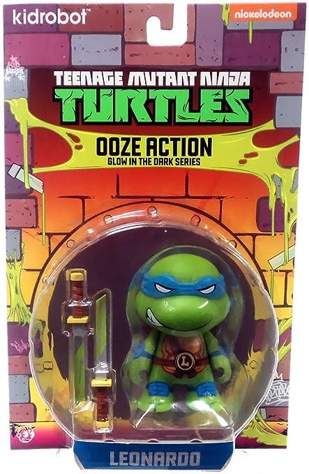 Animewild Teenage Mutant Ninja Turtles Ooze Action Glow in The Dark Series Leonardo Action Figure