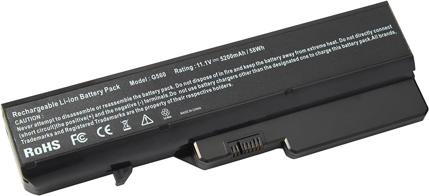 Fancy Buying L09S6Y02, L09M6Y02, L09L6Y02, L10P6Y22 Laptop Battery for Lenovo IdeaPad G460, G470, G475, G560, G780, Z565, Z570 (6 Cells 11.1V 5200mAh)