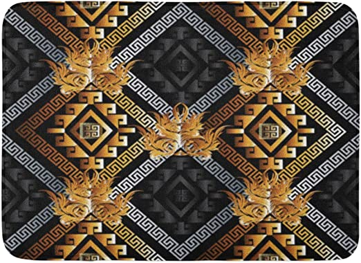 Amazon.com: Emvency Bath Mat Abstract Modern Geometric Black Gold