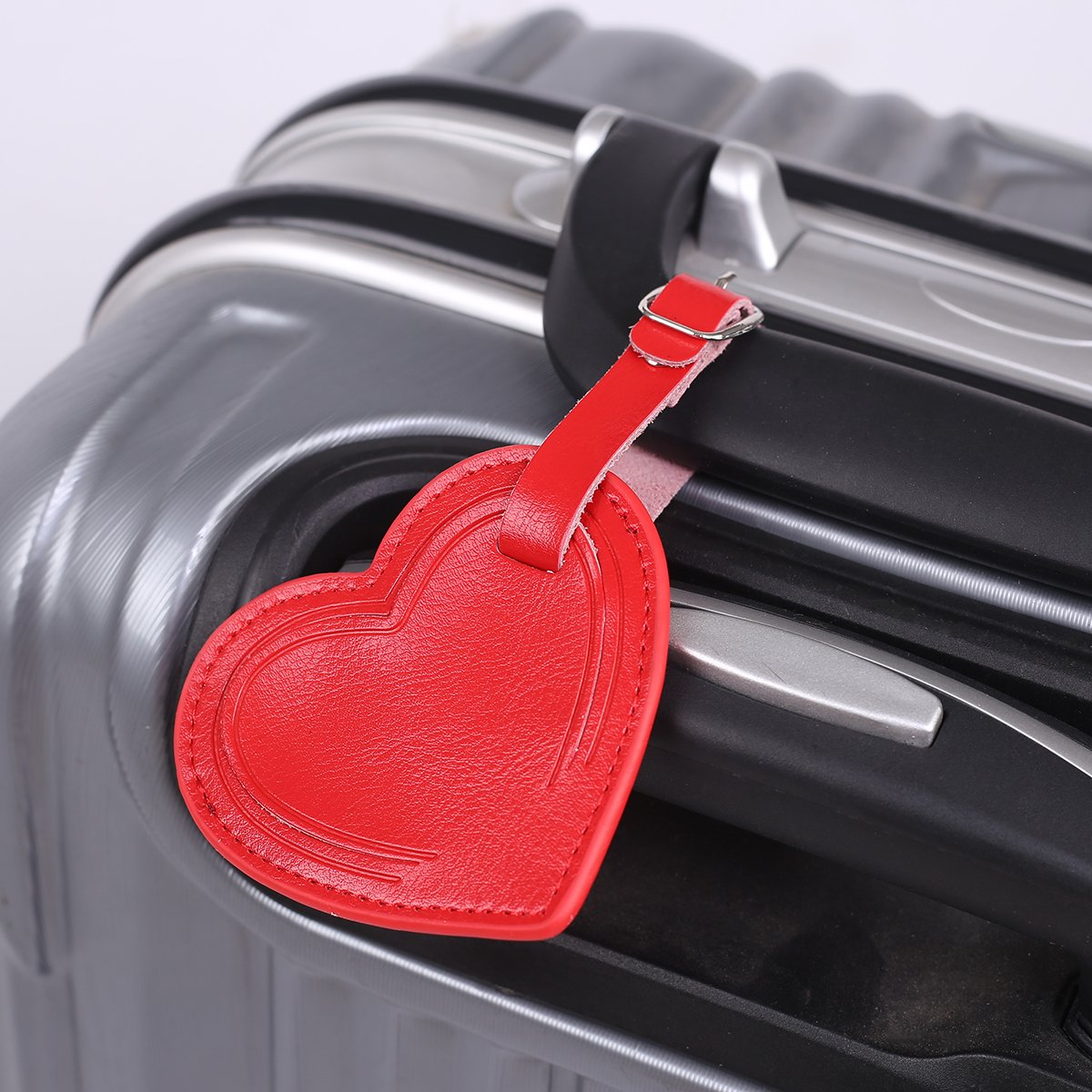 b558ddc77b9a AVIMA BEST Premium Handmade Leather Small Heart Luggage Travel ID ...