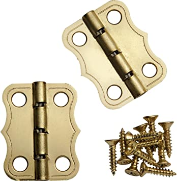 Replacement Luggage Stop Hinge in Brass