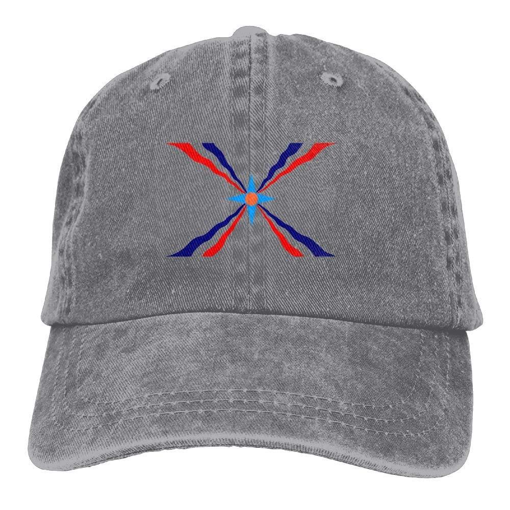 Milala-Design Assyrian Flag Plain Adjustable Cowboy Cap Denim Hat for Women and Men