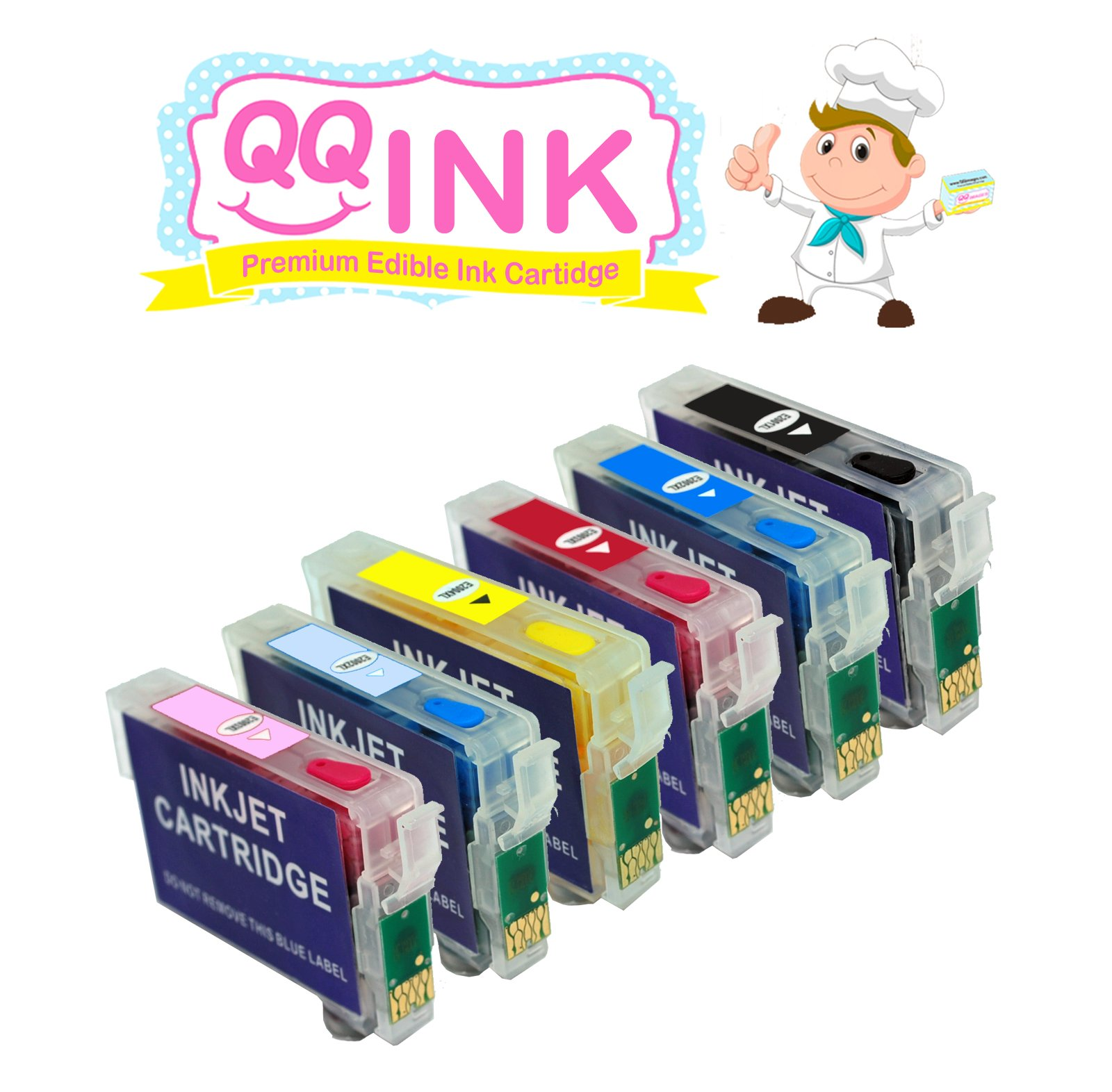 QQink Wide Format Cake Printer Bundle - Epson Printer comes with Edible Ink & Lucks Print Ons Edible Sheets by QQink (Image #2)