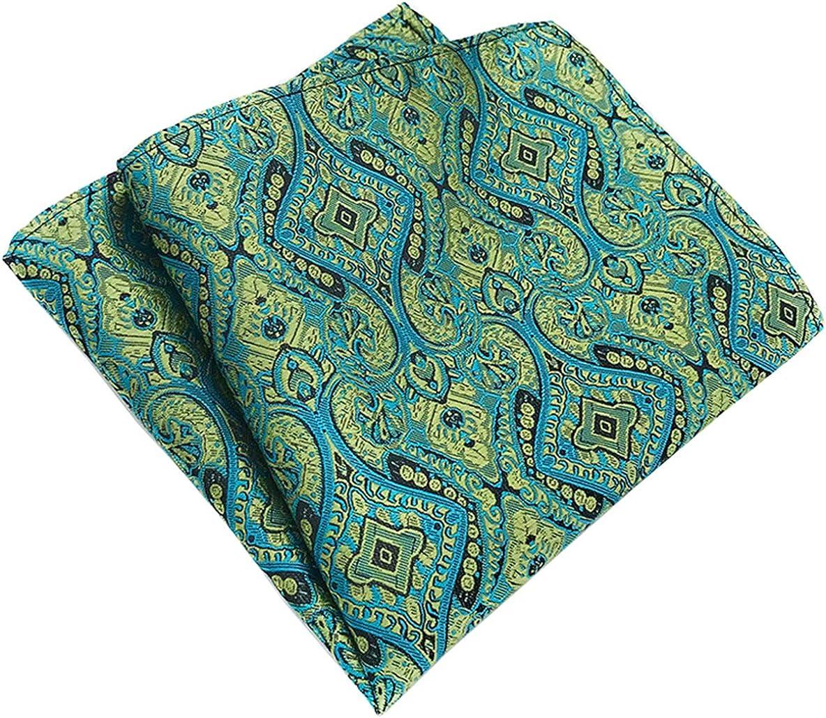 MOHSLEE Mens Navy Blue Silk Cravat Tie Woven Self Fancy Ascot Necktie Hanky Set