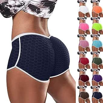 Fauean TIK Tok Leggings Shorts,Women's Workout Shorts Booty Yoga Pants High Waist Butt Lifting Ruched Scrunch Gym Short Pants
