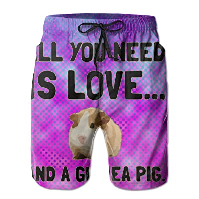All You Need Is Love Bedding Men's Athletic Shorts Quick Dry Tropical Shorts Swim Trunk
