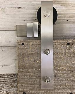 TLBTEK Guía de piso para puerta de granero, de acero inoxidable ...
