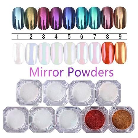 Born Pretty - Pigmento para manicure, uñas acrílicas, brillo y. Pasa ...
