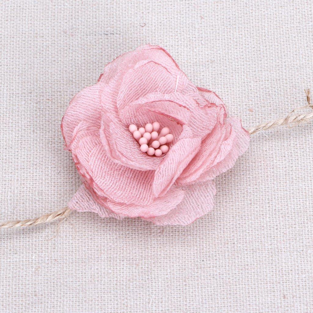 8 Farbe zu w/ählen. Manyo 1 St/ück Baby Blumen Stirnband Hanfseil Haarb/änder Beige Baby Foto Requisiten L/änge: 1m
