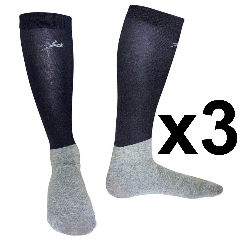 Calcetines EQUI-THEME Show–Juego de 3pares Marine/Gris